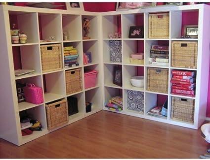 Ikea Expedit Kallax Estantería de almacenamiento, color blanco, mueble con 16 unidades en forma cuadrada