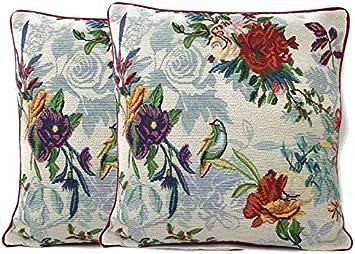 "DaDa Bedding Elegant Golden Christmas Festive Throw Pillow Covers Tapestry 16"""