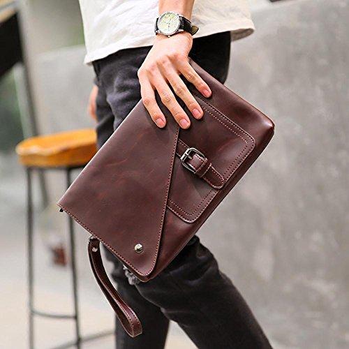 Bolso de mano de la cartera del teléfono de la cartera de los hombres de la moda . coffee color black