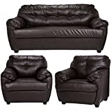 Furny Rosabelle Five Seater Sofa Set 3-1-1 (Brown)