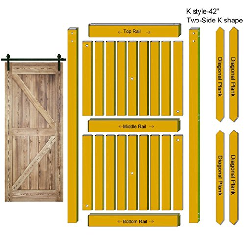 Made in U S  Heavy Duty Sturdy Sliding Barn Door Slab - Unfinished Natural  Solid Knotty Pine Interior Barn Wood Closet Door Panels 36 / 42inch x