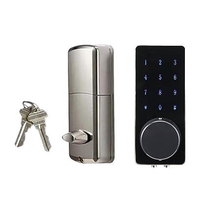 MagiDeal Cerradura de Puerta Inteligente Bluetooth Touch Contraseña para Oficinas Modernas Apartamentos Residenciales Villas