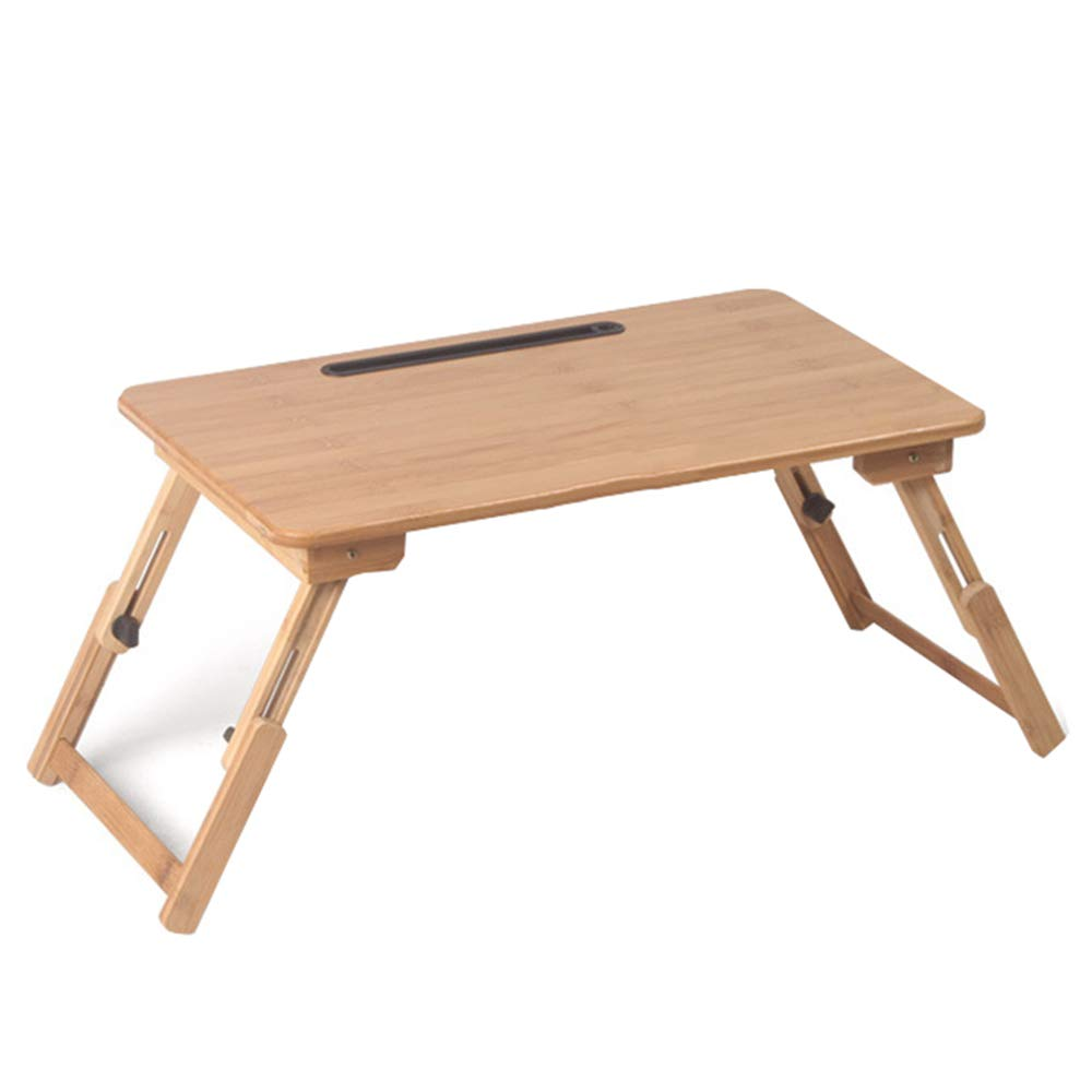 Bamboo Foldable Computer Desk, Portable Non-Slip Adjustable Stable Bed Tray Play Games On Bed Table Sofa by Cxmm (Image #1)