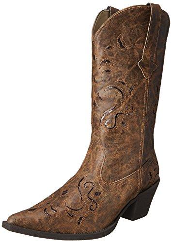 Roper Snippy Women's Glitter Boot Tan Western wPHwrqgx5