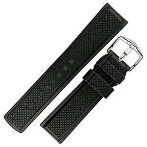 HIRSCH Active 40478850-2-20 - Correa para reloj, caucho, color negro