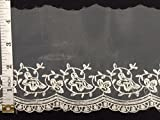 3 Yard, Organza Trim with Tribal Design and Scallops, 4.5''