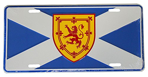 Scotland License Plate (st. andrews cross with rampant lion) ()