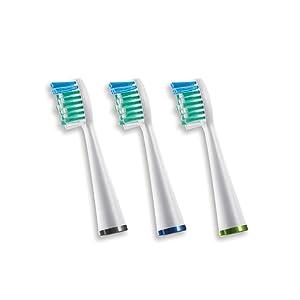 Waterpik Sensonic Toothbrush Standard Brush Head, SRRB-3W, 3 count