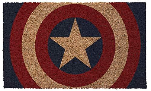 Pyramid America GPA70004 Captain America Shield Doormat, Multicolor