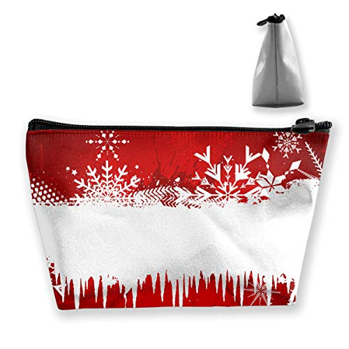 pengyong Snowflake and Icicle Makeup Bag Large Trapezoidal Storage Travel Bag Wash Cosmetic Pouch Pencil Holder Zipper Waterproof (Icicle Stuffed Animal)