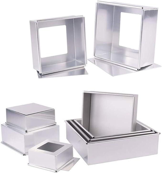 Amazon.com: Molde cuadrado de aluminio anodizado ...