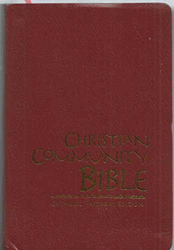 Christian Community Bible Catholic Pastoral Edition (faux leather, thumb-indexed, gilded textblock, 1997)