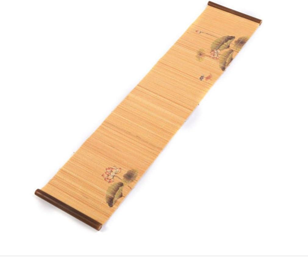 Camino de mesa camino de mesa de madera de bambú Natural de lujo ...