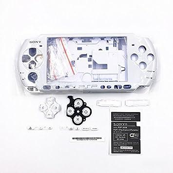 Carcasa completa para Sony PSP 3000 3001 3002 3003 3004, con tornillos y botones blanco