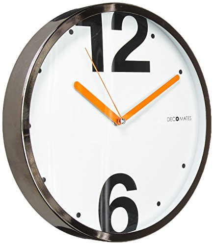DecoMates Non-Ticking Silent Wall Clock, Modern House 126 - Uniquely designed cutouts Made from ABS, PVC, wood and metal Back nail slot makes it easy to hang on walls - wall-clocks, living-room-decor, living-room - 51BiP4G2hbL -