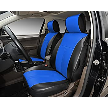 Amazon.com: 180207 Black/blue-2 Front Car Seat Cover Cushions ...