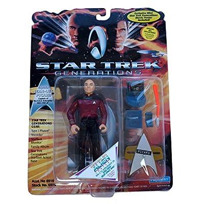 STAR TREK Generations Captain Jean-Luc Picard Action Figure: Toys & Games