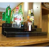 24-inch 3 Tier Liquor Bottle Shelf - Black