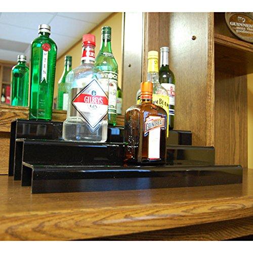 24-inch 3 Tier Liquor Bottle Shelf - Black by KegWorks