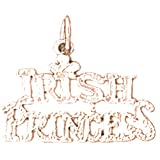 14K Rose Gold Irish Princess Pendant Necklace - 16 mm