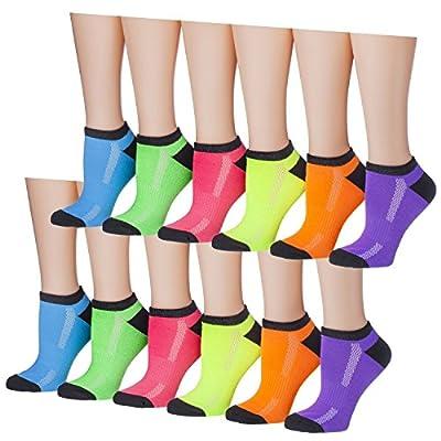 Tipi Toe Women's 12-Pairs Low Cut Athletic Sport Peformance Socks