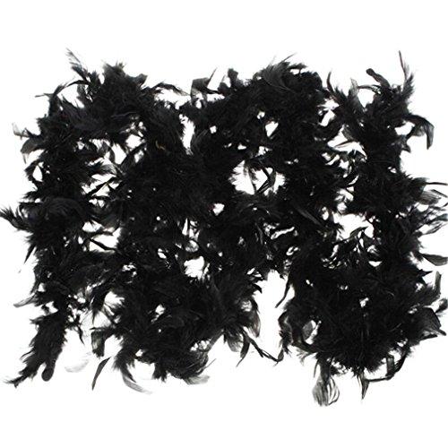 Boa Scarf Pattern (Fullfun Turkey Feather BOA Burlesque Showgirl Night Festival Ornamental Scarf (Black))