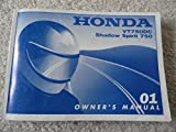 Original 2001 Honda VT750 Owners Manual VT 750 DC Shadow Spirit