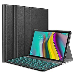 Fintie Keyboard Case for Samsung Galaxy Tab S5e 10.5 2019 Model SM-T720(Wi-Fi) SM-T725(LTE) SM-T727(Verizon/Sprint),Slim Stand Cover w/Detachable Wireless Bluetooth Keyboard,7 Color Backlight,Black