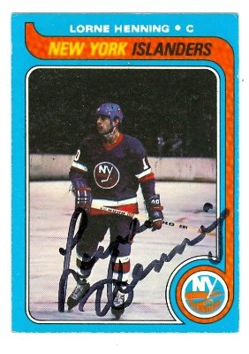Autograph Warehouse 62871 Lorne Henning Autographed Hockey Card New York Islanders 1979 Topps No. 193