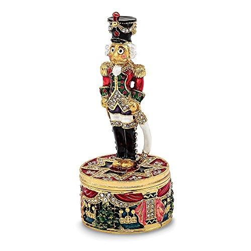 Jere Luxury Giftware Bejeweled Christoph Nutcracker, Pewter