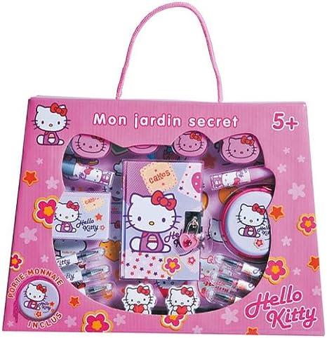 Alpa A1102414 Mon Jardin Secret - Estuche con productos de papelería, diseño Hello Kitty: Amazon.es: Bebé