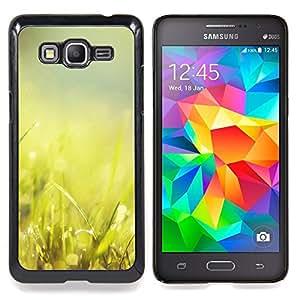 """Hierba Verde Glow"""" - Metal de aluminio y de plástico duro Caja del teléfono - Negro - Samsung Galaxy Grand Prime G530F G530FZ G530Y G530H G530FZ/DS"""