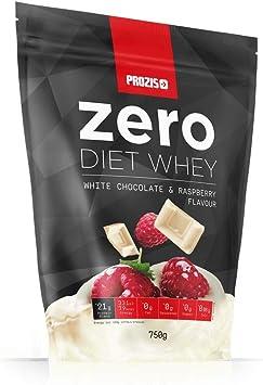 Prozis Zero Diet Whey 750 g Chocolate blanco con frambuesas Control De Peso Deportistas ¡Elige Estar En Forma! Aislado De Proteína De Suero De Leche, ...