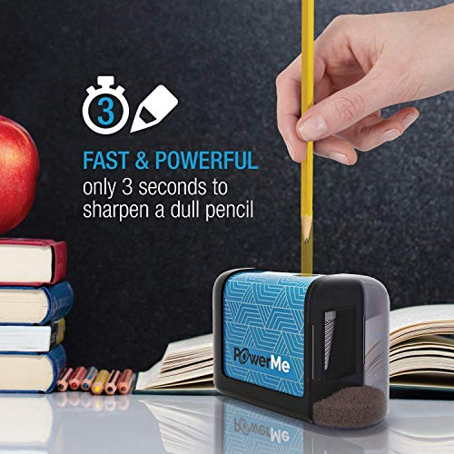 Powerme Electric Pencil Sharpener Battery Operated No