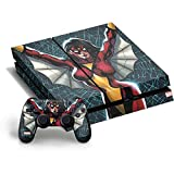 Marvel Spider-Woman PS4 Horizontal Bundle Skin - Spider-Woman Web Vinyl Decal Skin For Your PS4 Horizontal Bundle