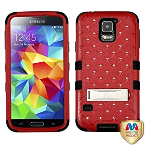 MYBAT Natural Red/Black TUFF Hybrid Phone Protector Cover (with Diamonds)(with Package) for SAMSUNG Galaxy S5