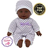 11 inch Soft Body African American Newborn Baby Doll in Gift Box - Doll Pacifier Included