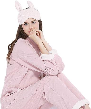 Pijamas Mujeres Embarazadas de algodón de Manga Larga camisón ...