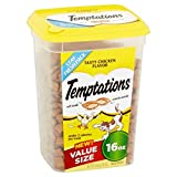 TEMPTATIONS Classic Treats for Cats Tasty Chicken Flavor 16 Ounces (Chicken, 16 oz. Pack of 12)