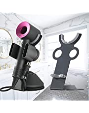 Hair Dryer Holder for Dyson Supersonic, Magnetic Stand Holder with Power Plug Cable Organizer, Aluminum Alloy Bracket, Bathroom Organizer for Dyson Supersonic Hair Dryer, Diffuser and Nozzles