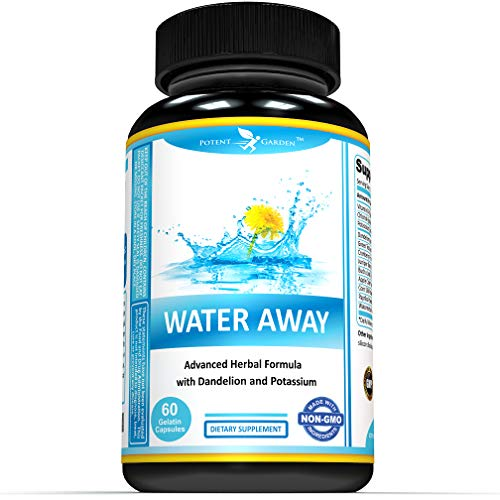 Water Away Herbal Formula for Healthy Fluid Balance - Water Pills for Bloating and Reduce Water Retention