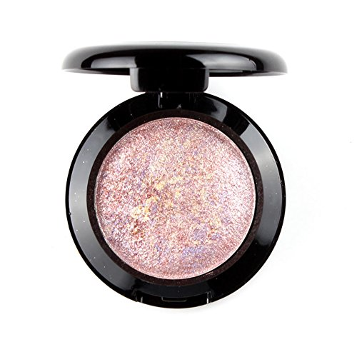 Mallofusa Single Baked Eye Shadow Powder Palette in Shimmer 12 Metallic Colors Optional (Night Rose)