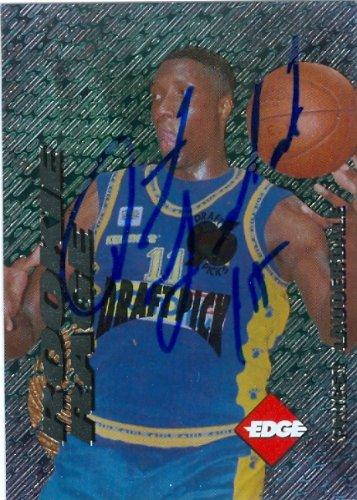 Collectors Card Edge Autographed (Autograph Warehouse 78299 Priest Lauderdale Autographed Basketball Card Central St. 1996 Collectors Edge Rookie No .23)