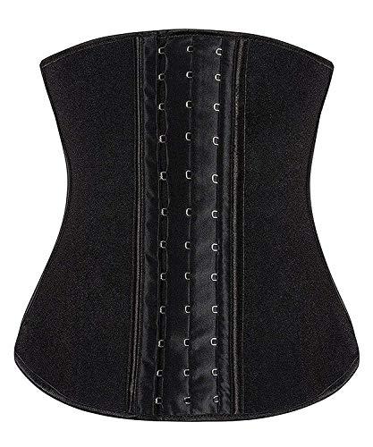 039b69933d9 ... YIANNA Women s Underbust Latex Sport Girdle Waist Trainer Corset  Hourglass Body Shaper ...
