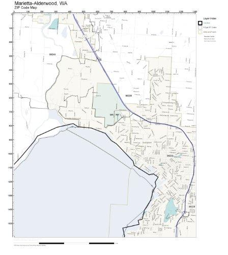 ZIP Code Wall Map of Marietta-Alderwood, WA ZIP Code Map - Alderwood Wa