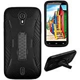 Premium Rugged Heavy Duty Drop Proof Case With Kickstand For BLU Studio 6.0 HD D650a (it doesn't fit BLU Studio 6.0 LTE Y650Q)-Black