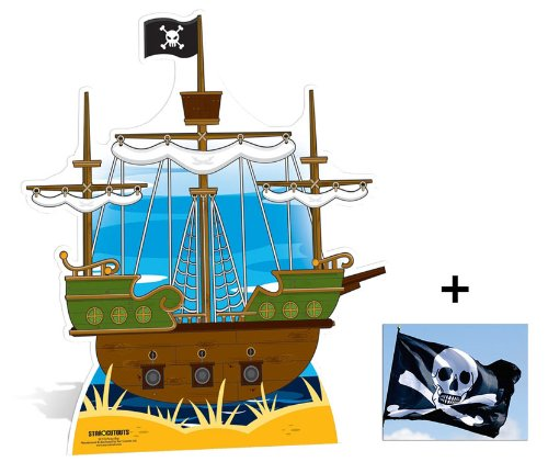 Fan Pack - Pirate Ship Large Cardboard Cutout / Standee - Includes 8x10 (20x25cm) Photo