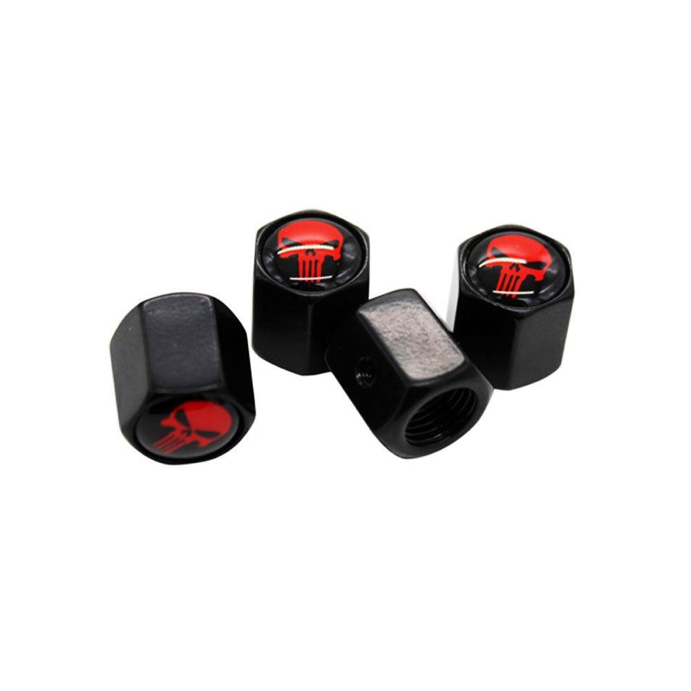 DSYCAR 4Pcs//Set Capuchones de V/álvula Tapas Antipolvo Tapa de V/álvula de Aire de Tapa de neum/ático para Coche//Motocicleta