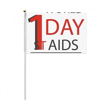 Amazon 112 World Aids Day Hiv Symbol Hand Waving Flag 8x5