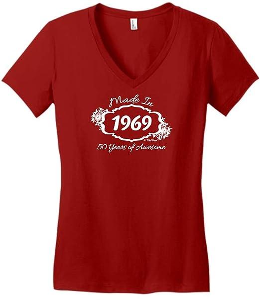 Amazon.com: Para regalo de cumpleaños Made 1966 50 años ...